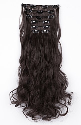 SWACC Women 20 Inches Curly Full Head 7 Separate Pieces Heat