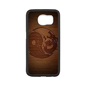 Yin Yang Phone Case And One Free Tempered-Glass Screen Protector For Samsung Galaxy S6 W57523