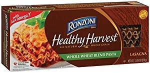 Ronzoni 100% Whole Wheat Grain Lasagna 12 Oz. Pack Of 3. by Ronzoni