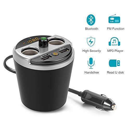 SSCJ Car Mp3 Music Player FM Transmitter Wireless, Bluetooth Handsfree Talking Car Kit- Support TF Card Hands-Free Talking Car Kit Music Player