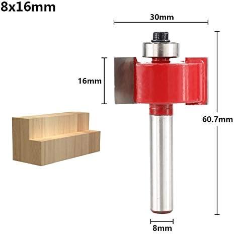 WITHOUT BRAND 1pc Bearing Flush Trim Fräser for Holz 8mm Schaft T-Nut-Fräser T-Typ Fräser Schaftfräser HM (Größe : 8x19mm)