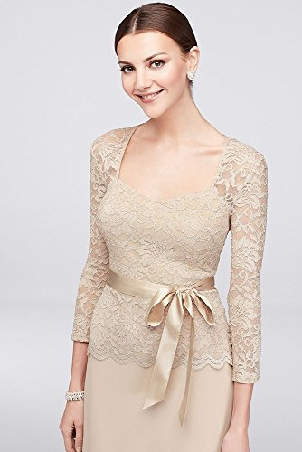 Sweetheart Chiffon Taupe Style Lace Gown Groom Mother Bride Long Sleeve 648758 wP1q1T