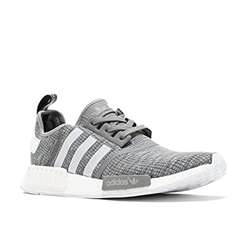 adidas Originals Men's NMD_R1 Glitch Graphic Dark Grey Heather Solid Grey/ Footwear White/Footwear White Athletic Shoe