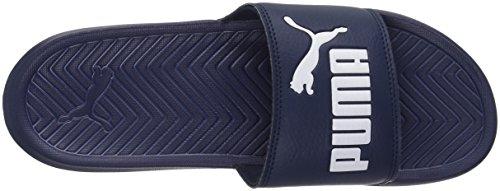 Puma Mens Popcat Diapositive Sandale Peacoat-puma Blanc