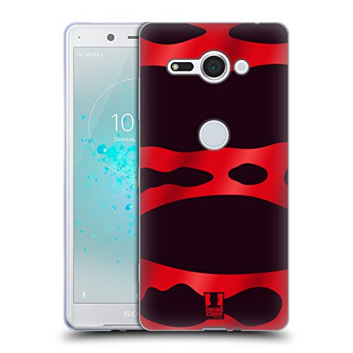 Head Case Designs Red Banded Poison Dart Frog Patterns Soft Gel Case for Sony Xperia XZ2 - Soft Banded Shell