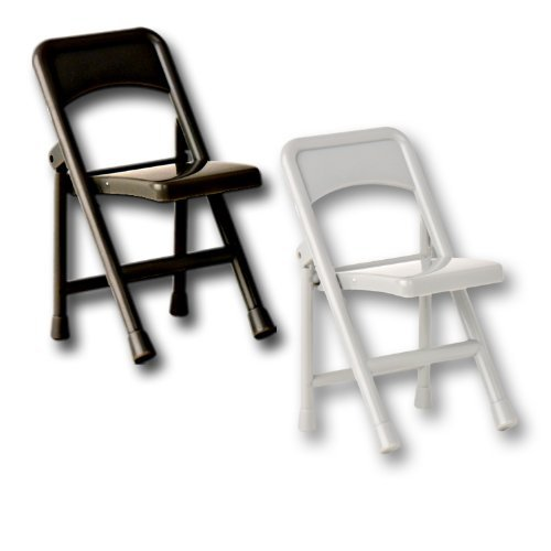 Black & Silver Folding Chairs - Wrestling Figure Accessories (WWE/TNA) The Wrestling Stall