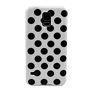 White Polka Dots Pattern TPU Soft Case for Samsung Galaxy S5 I9600,Pink