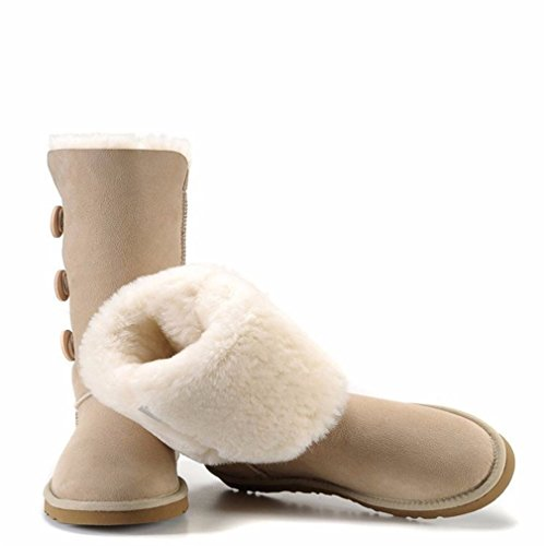 Slinny Women Snow Boots Short Leather Shoes Boot Black Chestnut Gray Women Fur Snow Boots Size Us 4-13 05 - Margiela 11 Maison Martin