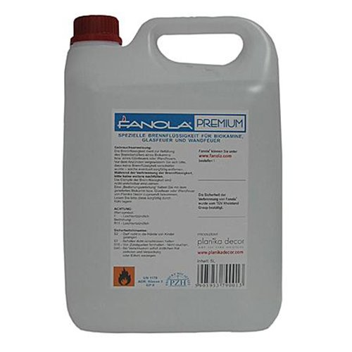 Bioethanol-Brennstoff Fanola Premium, 5 Liter Planika