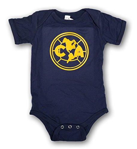 ESF Club America Baby Bodysuit Mameluco Jumpsuit Exclusive Design (3-6 Months, Navy/Yellow) ()