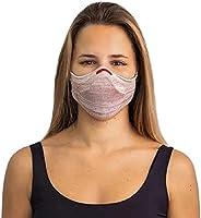 Máscara Fiber Knit AIR + 30 Filtros de Proteção + Suporte 3D (Rosê, M)