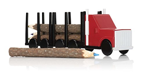 NPW-USA Log Color Pencil Truck Set, 6-Count Handy Book Truck
