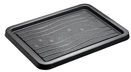 Rotho Schuhabtropfschale SNOW & RAIN, kleine Fuß-Matte aus Kunststoff für optimalen Schutz vor Nässe und Schmutz, Schuh-Ablage in anthrazit, ca. 51 x 39 cm