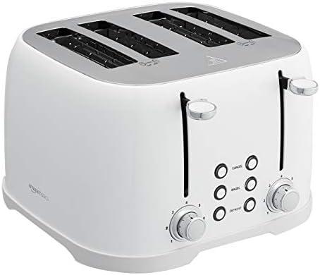 Amazon Basics 4-Slot Toaster, White