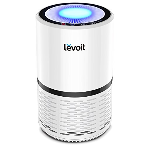 Levoit Air Purifier with True HEPA Filter Active Carbon Filtration, Captures Airborne Allergens, Viruses, Bacteria, Pollen, Dust, Mold for Home...