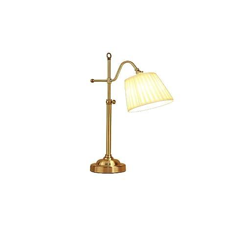 LDDEND Lámpara de mesa Country de bronce metálico de bronce ...