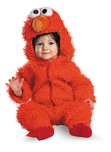[UHC Baby Girl's Sesame Street Elmo Plush Jumpsuit Infant Halloween Costume, 12-18M] (Sesame Street Costumes For Babies)