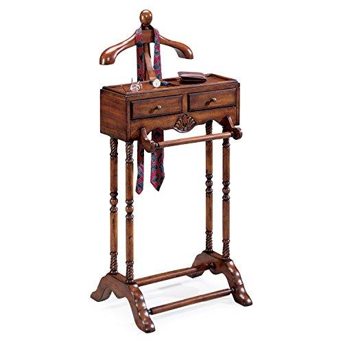 Valet Brass - Valets - Gentlemans Valet Stand - Cherry Finish - Clothes Stand - Valet Rack - Accent Furniture