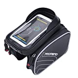 ZUKKA Bike Handlebar Bag,Bicycle Frame Front Storage Bag with Transparent Pouch Touch Screen, Large-Capacity Cycling Front Pack