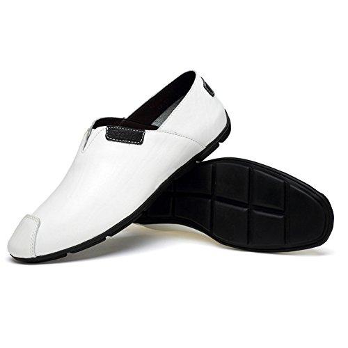 Zapatos Mocasines Casual Verano Hombre Conducción Blanco Transpirables Primavera Ponerse Malla Ypw5q6