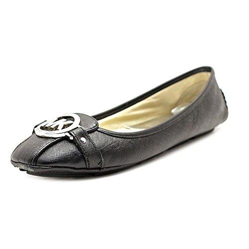 MICHAEL Michael Kors Women's Fulton Moc Black Saffiano Loafer 7 - Flats Mk Black