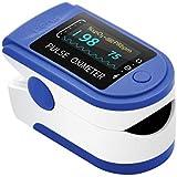 AIQURA pulsómetro de dedo oxígeno – pulsioxímetro de dedo profesional – oxímetro medidor de oxígeno en sangre portátil…