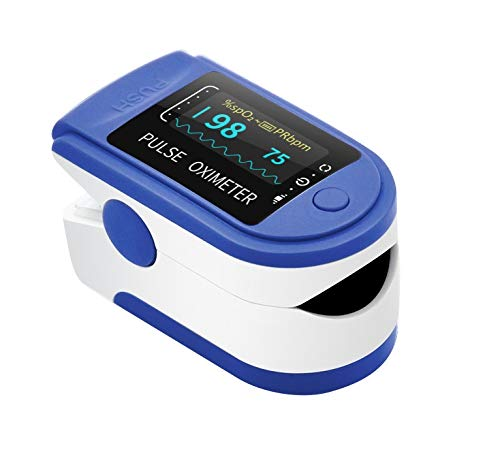 🥇 AIQURA pulsómetro de dedo oxígeno – pulsioxímetro de dedo profesional – oxímetro medidor de oxígeno en sangre portátil – SpO2