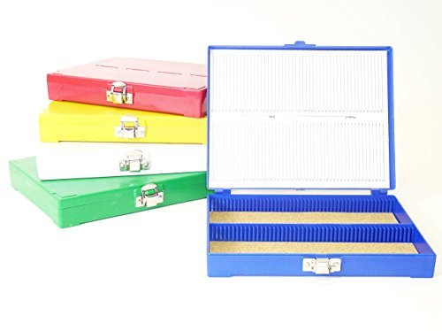 - Premiere 100 Capacity ABS Plastic Slide Storage Box, Blue
