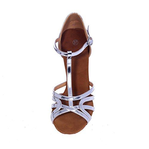 Fine Chaussures gold L Latin Femmes The Simili YC Cuir Sandales Criss Danse Heel Performance Cross qqZ47Snw
