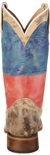 Bandiera Rossa Texas Flag Boot Occidentale Rosso / Bianco / Blu