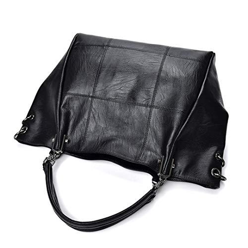 Tracolla 33cm 14cm Di A Donna Borse Black 36cm Borsa Casual Plaid Purple Lusso In Pelle Design Vera wHqHIT4