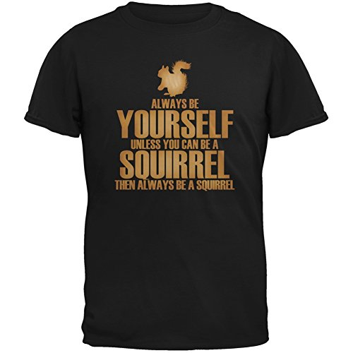 Always Yourself Squirrel Black T Shirt product image