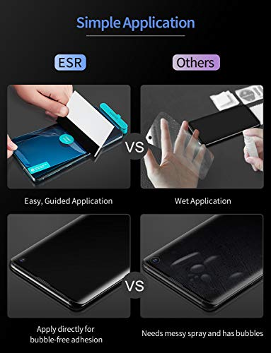 Compatible with Samsung Galaxy S10 TPU Film Plus ESR Screen Protector 2-Pack