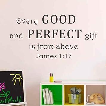 Amazon.com: Bible Verse Wall Decal Scripture Vinyl Wall Art Every ...