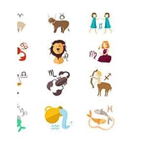 alfombrilla de ratón Iconos de la muestra del zodiaco - rectangular - 23cm x 19 cm