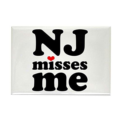 CafePress New Jersey Misses Me Rectangle Magnet, 2