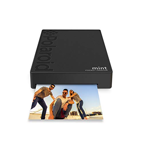 Polaroid Mint Wireless Mobile Photo Mini Printer (Black) Compatible w/iOS & Android, Bluetooth Devices