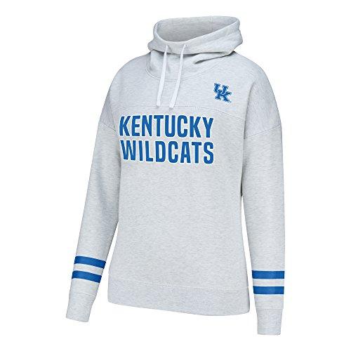 NCAA Kentucky Wildcats Women's School Spirit Front Row Cowl Neck Fleece, Medium, Light - Cat Row