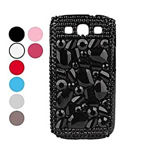 Rhinestone Hard Case for Samsung Galaxy S3 I9300 (Assorted Colors) --- COLOR:Blue