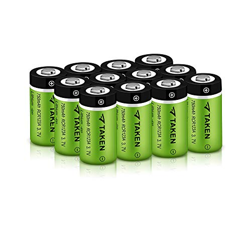 Arlo Batteries, 3.7V Li-ion Rechargeable Batteries for Arlo Cameras (VMC3030/VMK3200/VMS3330/3430/3530), 750mAh RCR123A Rechargeable Batteries (12 Pack) (Taken By The Best)