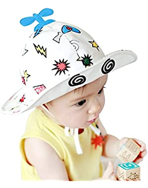 Unisex Baby Solid Flap Sun Protection Hat UPF 50+ - 2018 Best Gift in USA