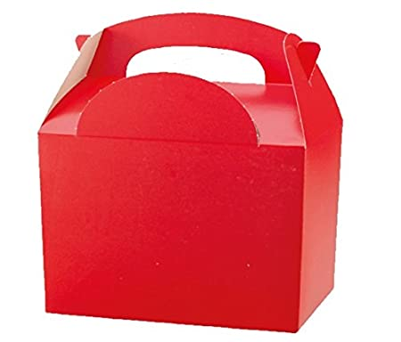 100 X Red Birthday Party Food Gift Boxes Kids Lunch Food Meal Box
