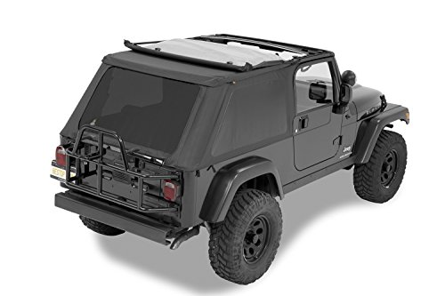 Bestop 56821-35 Black Diamond Trektop NX Complete Frameless Replacement Soft Top with Sunrider Sunroof Feature for 2004-2006 Wrangler Unlimited ()