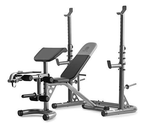 Gold's Gym XRS 20 Adjustable Olympic Workout Bench with Squat