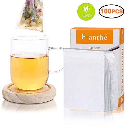 100Pcs Tea Filter Bags, Disposable Empty Tea Bag with Drawst