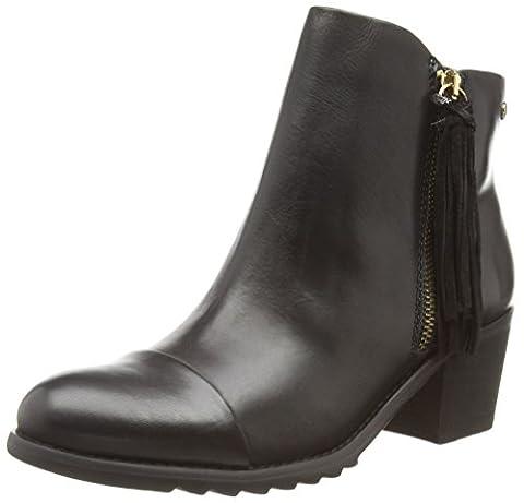Pikolinos Womens Andorra 913-9553 Black/Black Boot - 40