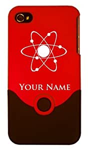 Personalized Engraved iPhone 4/4S Case/Cover - ATOM, ATOMIC, NUCLEAR, Add your name for FREE