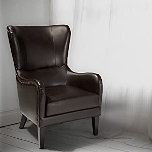 Merveilleux Lorenzo Leather Studded Club Chair