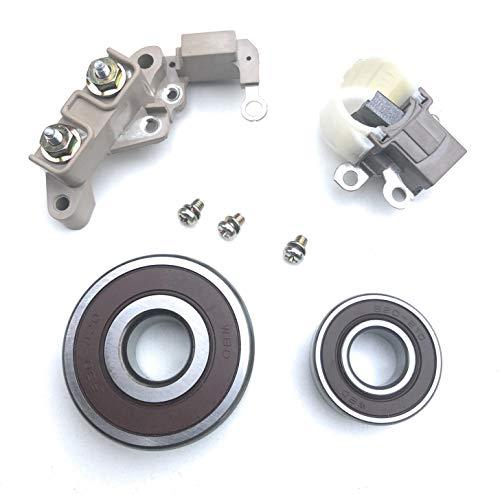 Alternator Repair Kit Brushes,Terminal Block,Bearings for Chrysler Dodge Jeep Fits on Chrysler 56007912, 56027912,56027913, Denso 121000-3530, 121000-3531,121000-4170, 121000-4171, 121000-4300