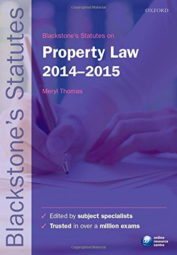 Blackstones Statutes On Property Law 2014 2015  Blackstones Statute Series